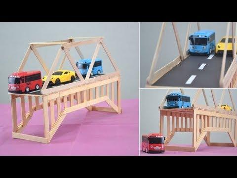 DIY Mini Bridge from Popsicle Sticks
