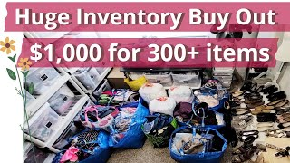 Reseller Inventory Buy Out to sell on Poshmark & Ebay 300+ items for $1,000 Clothing Lot Thrift Haul