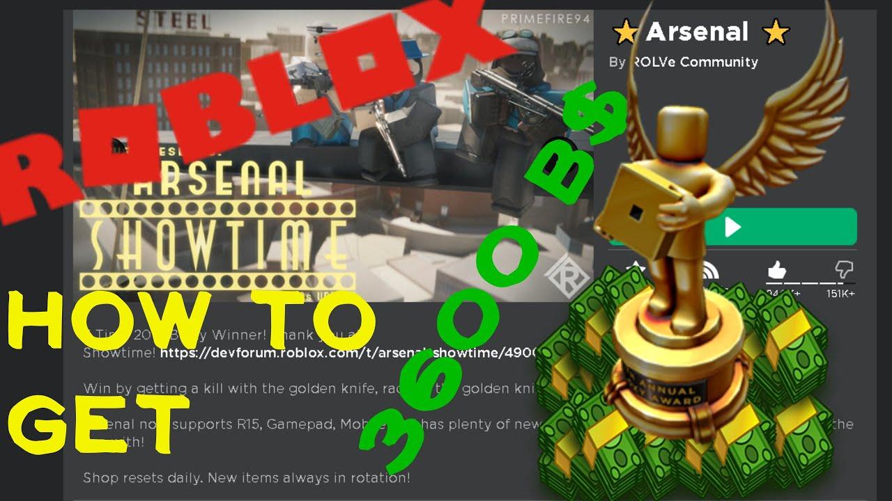 Bloxy Awards Code For 3600 Bucks In Arsenal Roblox Youtube