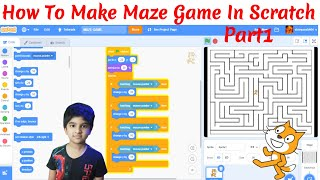 How to make simple maze game in Scratch - Part1 | Kids easy tutorial scratch