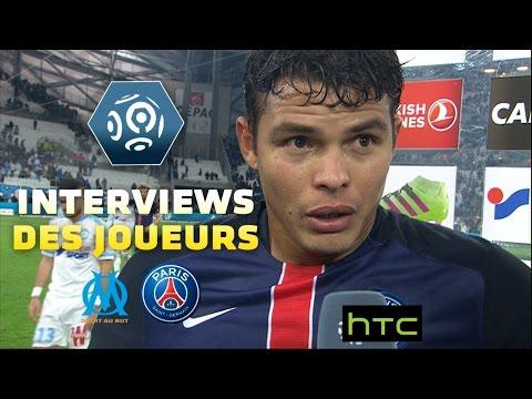 Interview de Thiago Silva et Rémy Cabella d'après-match OM/PSG 2015-16