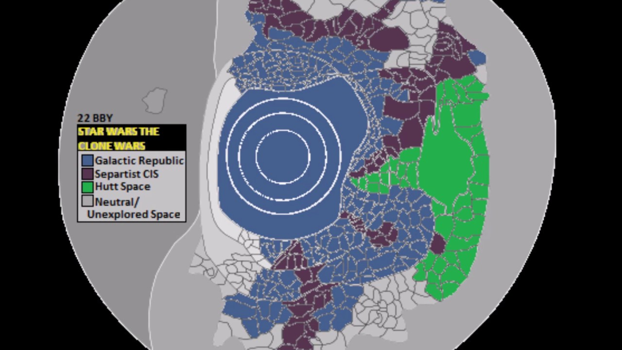 Star Wars The Clone Wars Galactic Map Youtube