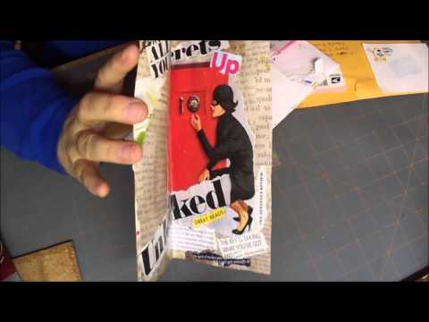 Deconstructed Art Journal Page swap show and tell April 2015