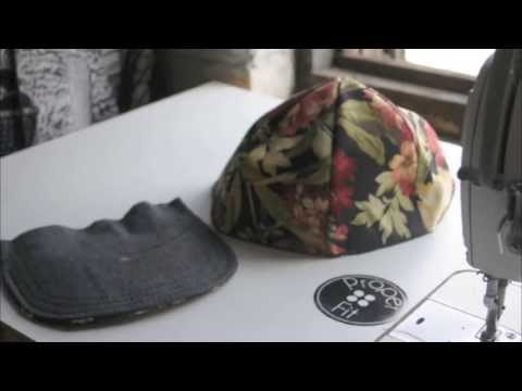 95bdae5b0f34d5 How to make a Snapback Baseball Hat | ProperFit DIY - YouTube