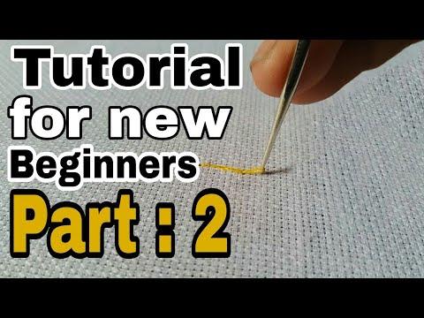 Hand Embroidery Basic Chain stitch tutorial for beginners | Aari work | maggum work