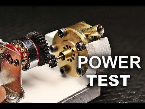 Micro Tesla Turbine Power Test