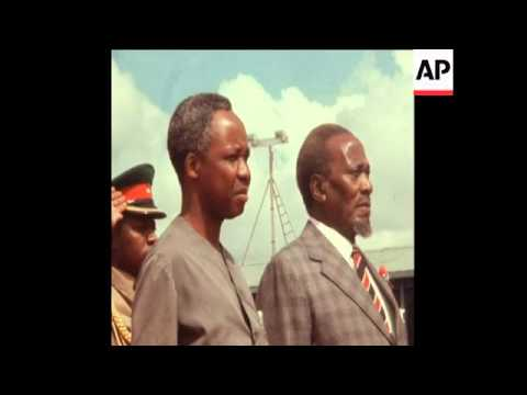 SYND 26/03/1970 PRESIDENT NYERERE OF TANZANIA ARRIVES IN NAI