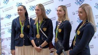 ТГУ NEWS: визит в ТГУ олимпийских чемпионок, гандболисток клуба «Лада»