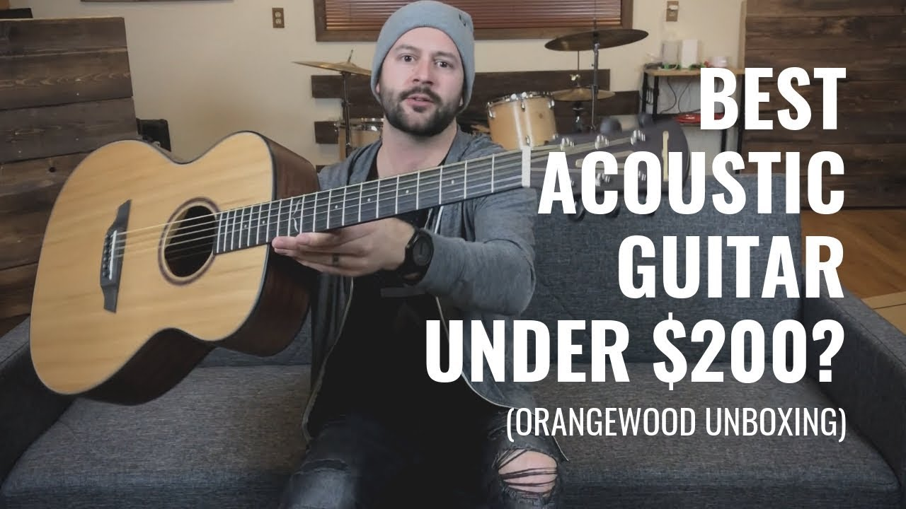 best acoustic guitar for under 200 orangewood unboxing and demo youtube. Black Bedroom Furniture Sets. Home Design Ideas