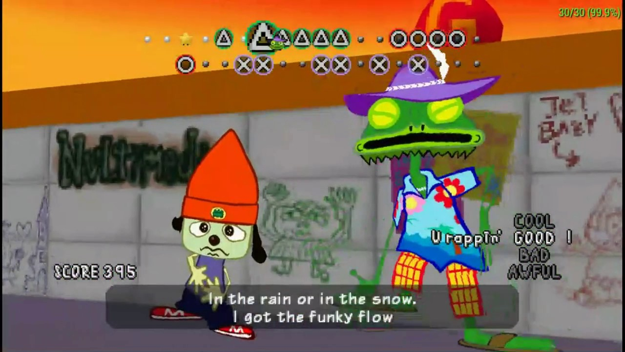parappa the rapper psp bathroom rap! good rank - youtube