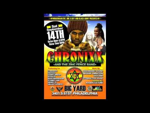 CHRONIXX AT BIG YARD PHILLY SEPT 14 2013 PROMO MIX - JAH T JR