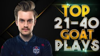 TOP 21-40 - BEST & MOST ICONIC GOAT Plays in Dota 2 History