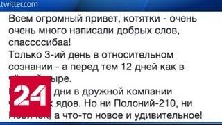 Верзилов вышел в Twitter из больничной палаты - Россия 24