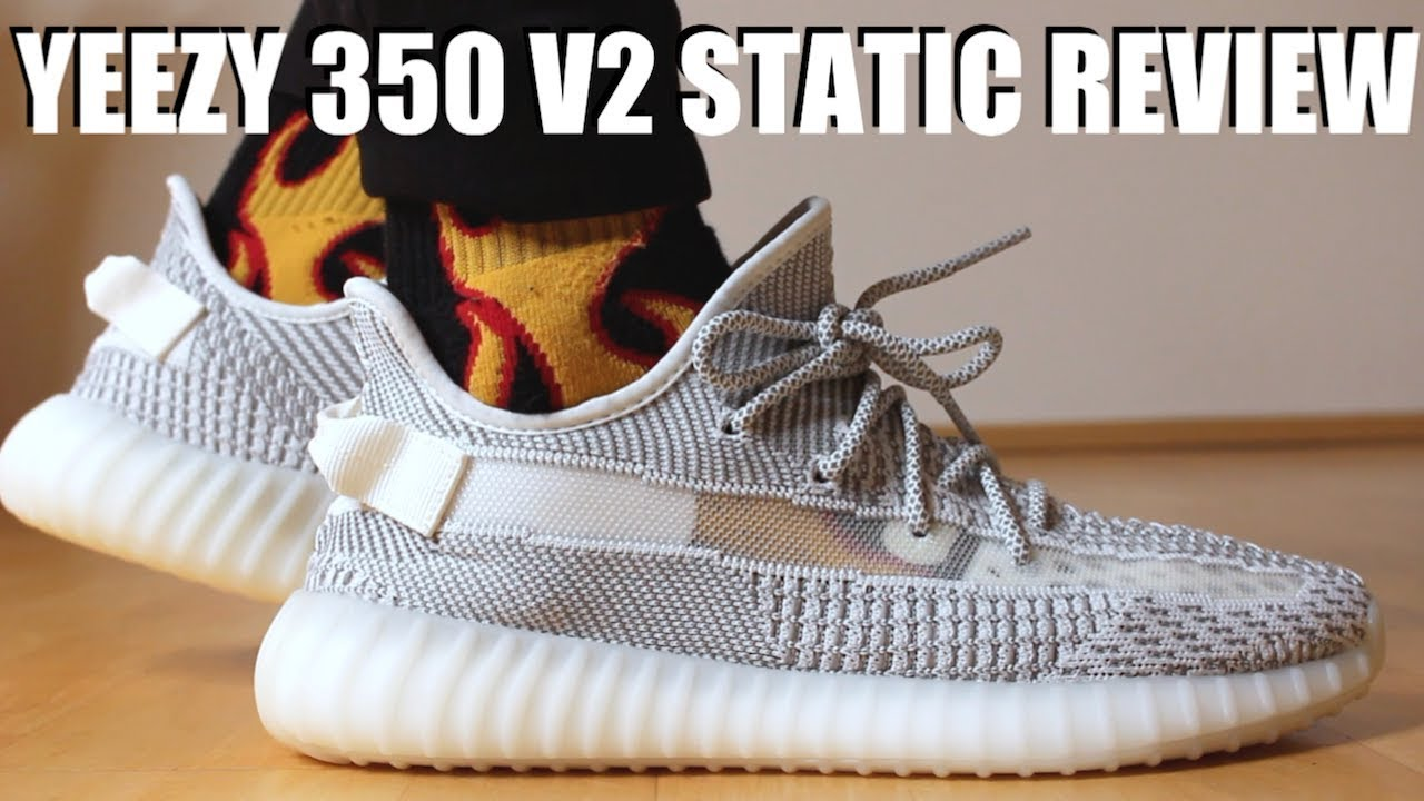 957038be3cce2 YEEZY 350 V2 STATIC REVIEW + ON FEET   SIZING - YouTube
