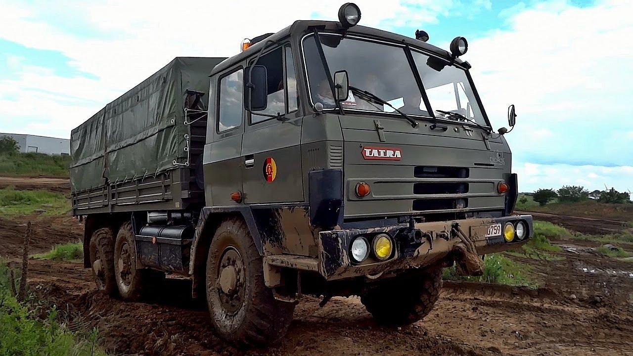 Tatra 815 6x6 military Truck off road & sound - YouTube