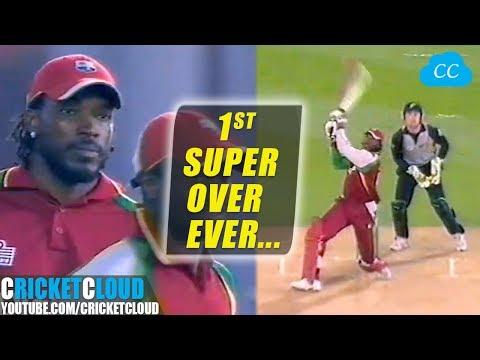 Best Super Over | Super Gayle Storm | 1st Super Over Ever In T20 Cricket !!