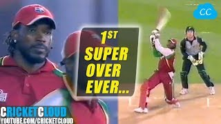 Best Super Over | Super Gayle Storm | 1st Super Over Ever in T20 Cricket !!