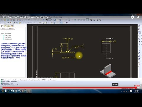 How to create  welding symbol in proe