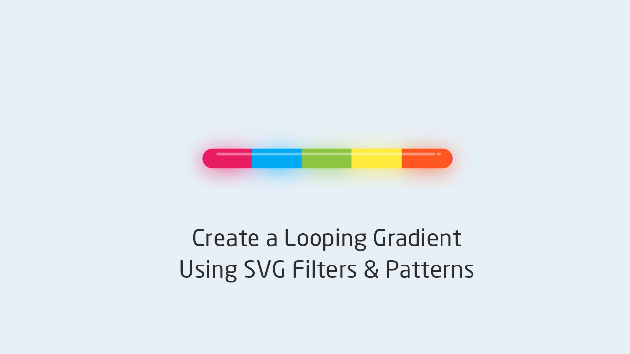 Create a Looping Gradient Using SVG Filters & Patterns