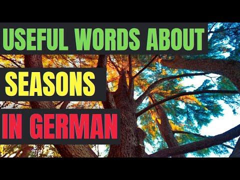 Learn german - the four seasons / die vier Jahreszeiten