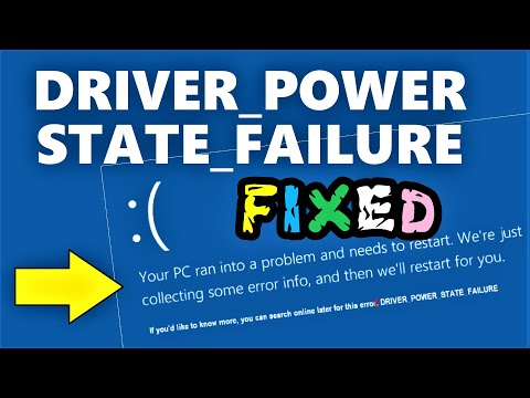 Driver Power State Failure Windows 10 Fix   How To Fix DRIVER_POWER_STATE_FAILURE In Windows 10 \ 8