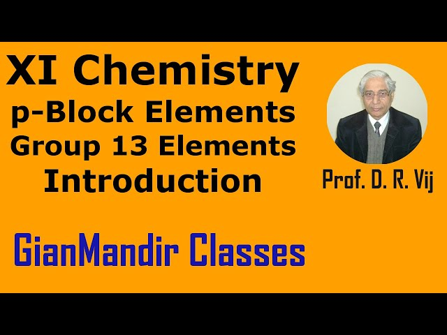 XI Chemistry | p-Block Elements | Introduction of Group-13 Elements by Ruchi Mam