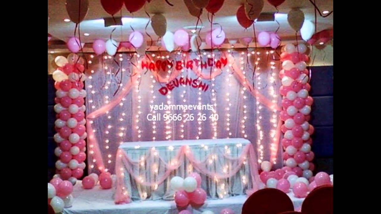 Birthday Decorations In Hyd 1st Events Call 9666 26 40