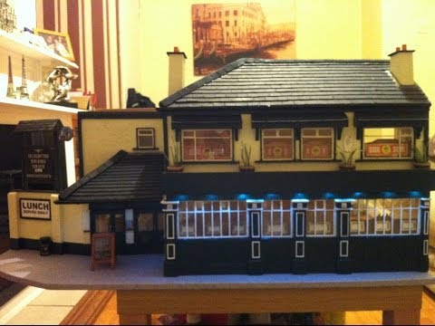 Miniature scale model of the Cherrytree pub, Walkinstown, Dublin, Ireland.