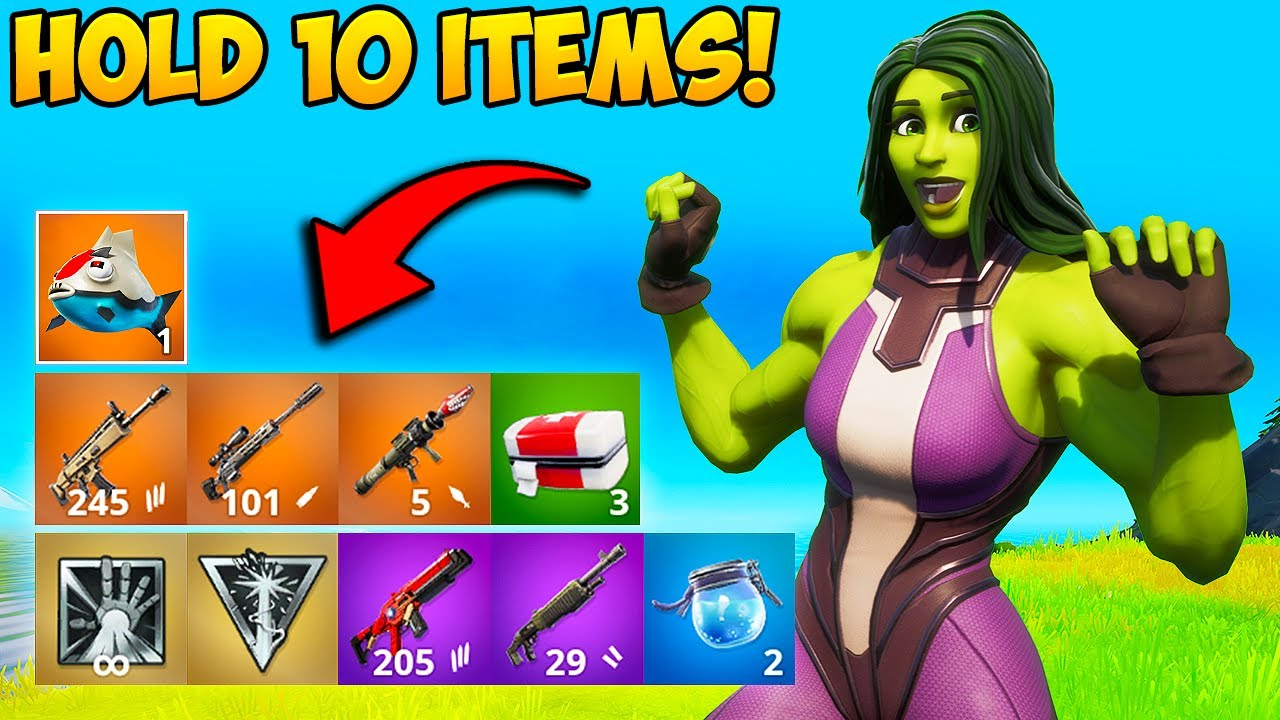 *NEW TRICK* HOLD 10 ITEMS AT ONCE!! - Fortnite Funny Fails and WTF Moments! #1038
