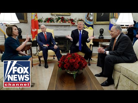 Trump, Pelosi, Schumer spar on border wall in Oval Office