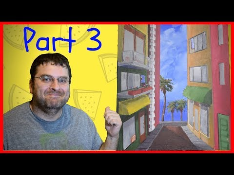 Beach Front Street Scene Part 3 – Acrylic Painting Tutorial for Beginners – Studio-214