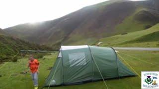 Wild camping mennock pass in my trespass 4 man tunnel tent