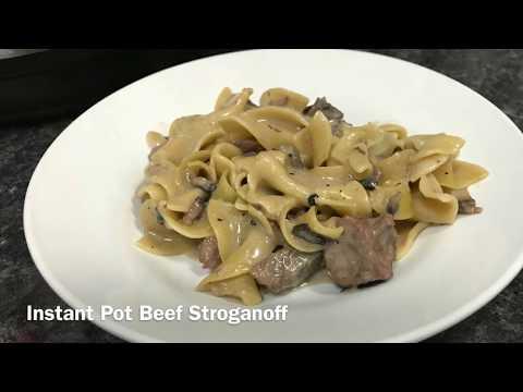 Instant Pot Beef Stroganoff