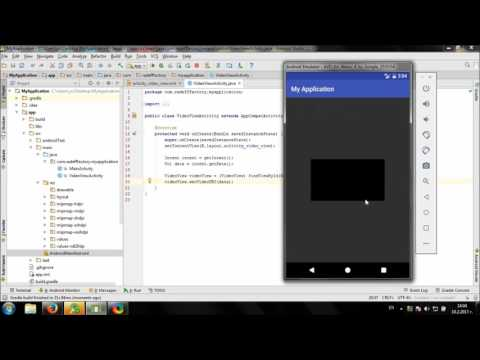 Develop simple Video Viewer in Android Studio