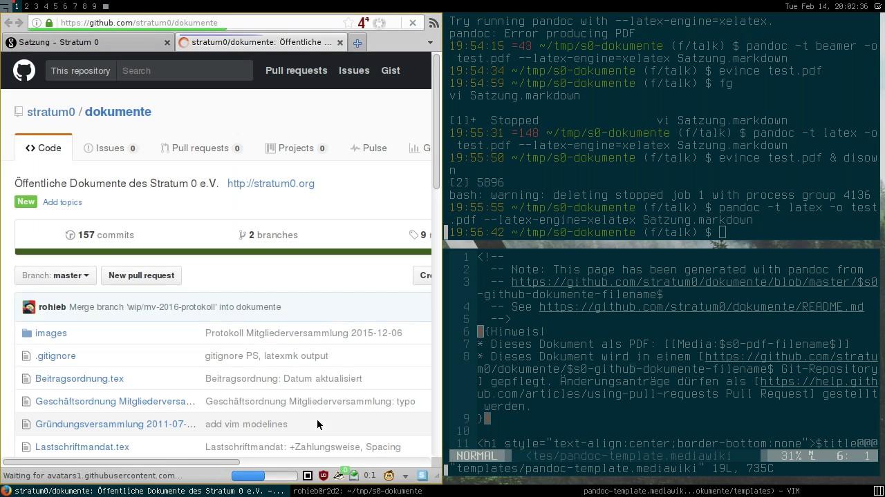 Talk: Dokumentverarbeitung mit pandoc