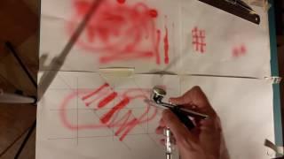 Фото Аэрограф 5 Как держать тренируем руки рисуем промываем