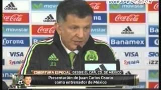 Presentacion de Juan Carlos Osorio como DT de Mexico