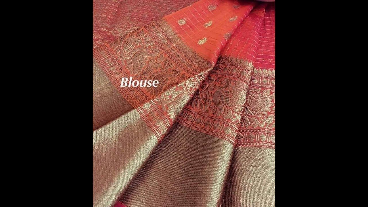 a8e61cb35 Chanderi Silk Blend Saree With Zari Wave Collections