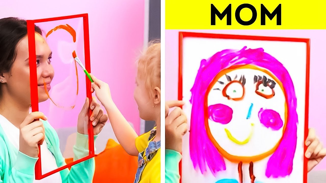 Drawing with kids. Mom Vs Dad