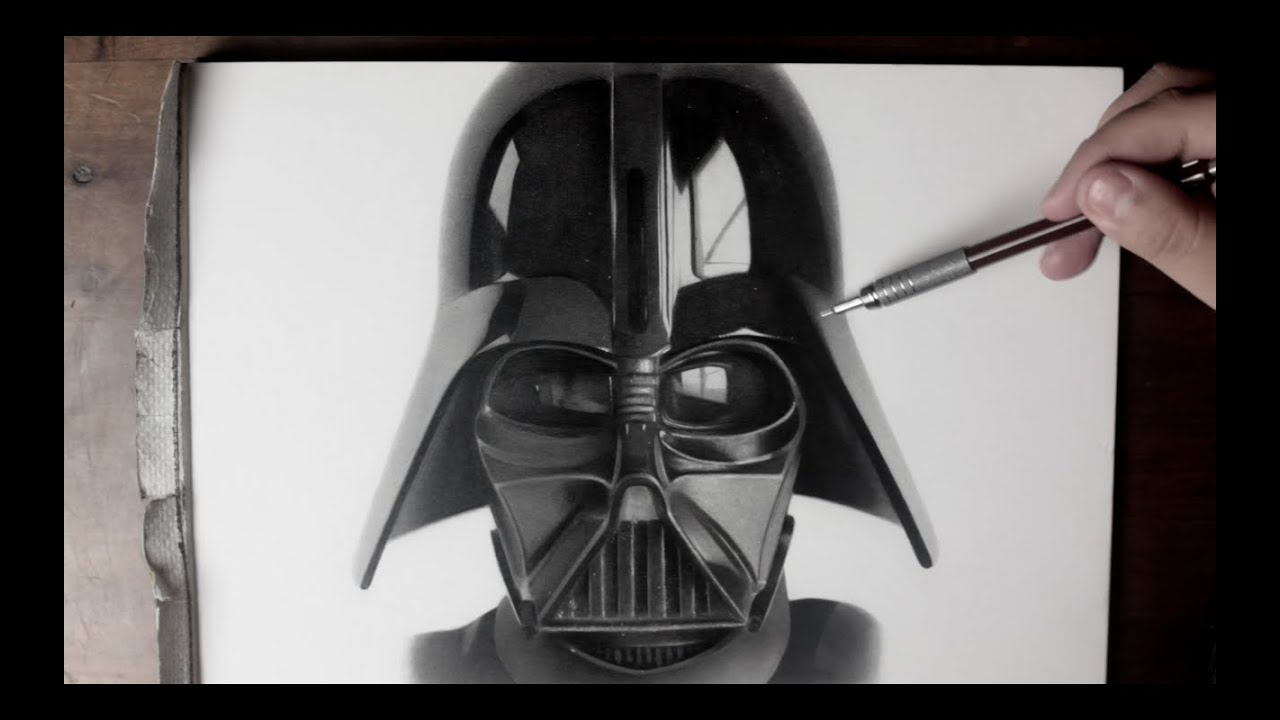 Darth Vader Drawing time lapse Star Wars Fan Art  YouTube