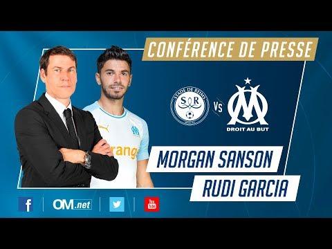 Reims - OM l La Conférence de Morgan Sanson et Rudi Garcia