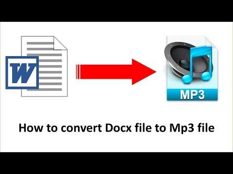 How to convert file Word to Mp3 file | Aun Chantha
