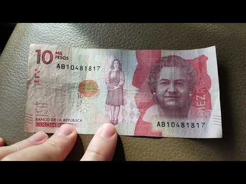 What can I buy with 10,000 Colombian Pesos Diez Mil Pesos Colombia