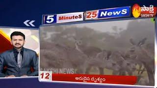 Sakshi Fast News | 5 Minutes 25 Top Headlines @ 5PM | 24th Jan 2020