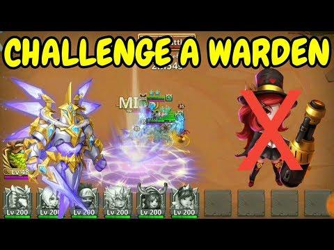 Challenge A Warden L Saint L Without Heartbreaker L Castle Clash