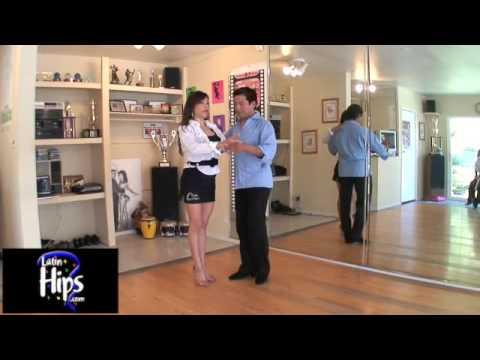 "Learn to Dance Salsa with Salomon Rivera & Elena ""La Candela""Cross Body Lead with Ladies Styling"