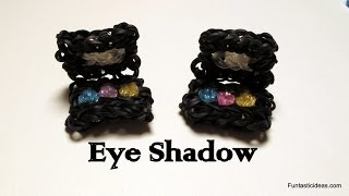 Rainbow Loom Makeup Palette/Eye Shadow Charm- How to - Make Up Series
