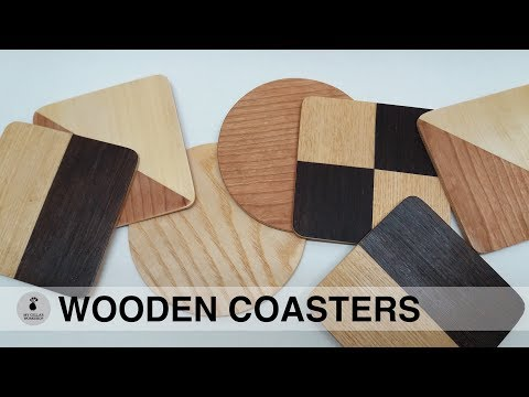 DIY Wooden Coasters // Woodworking How to make // My Cellar Workshop