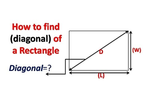 how to find the diagonal of a rectangle youtube
