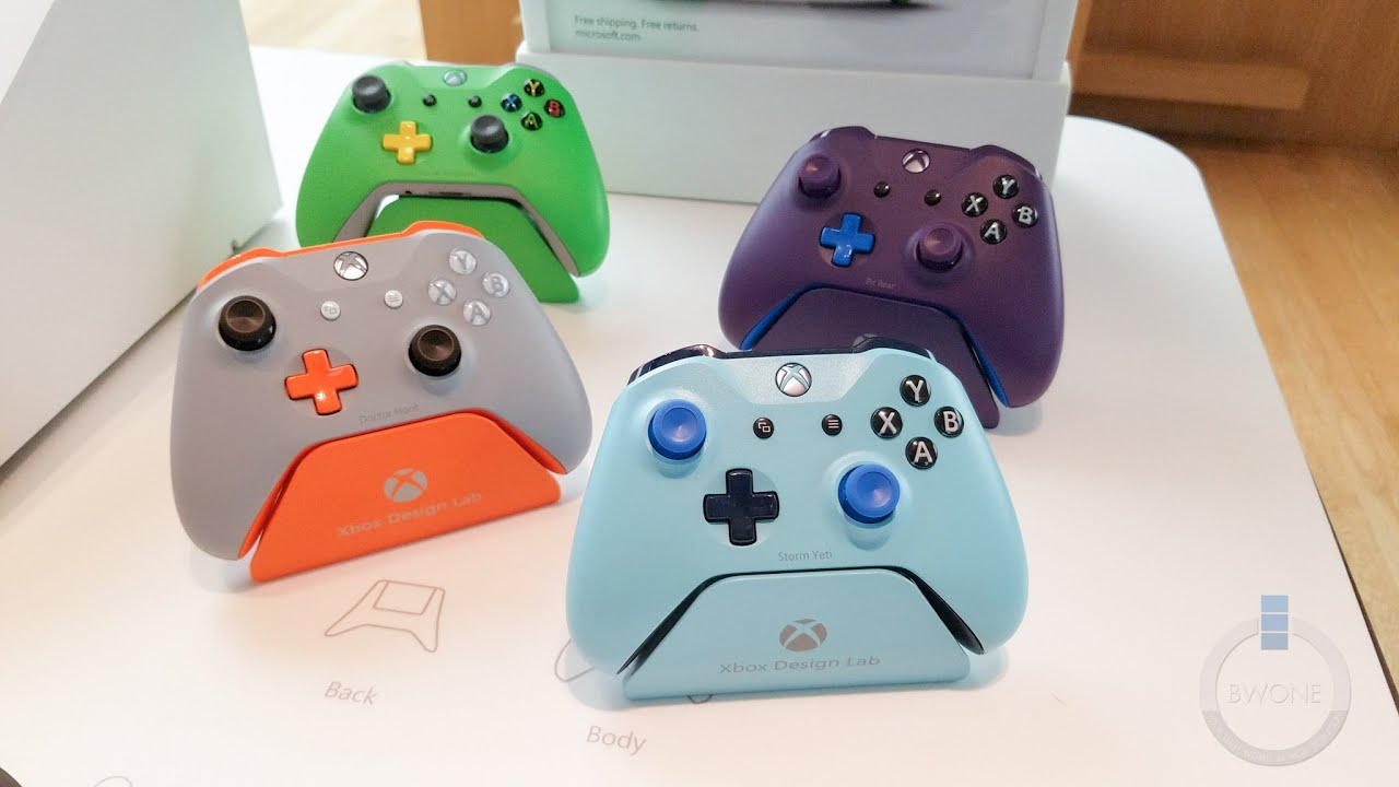 First look at the new xbox one s custom controller youtube